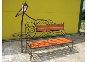 Кованая лавочка-Кованый фонарь №10, Учёный