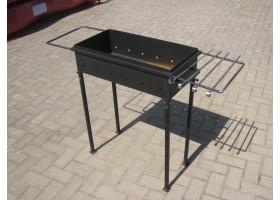 Кованый мангал разборный №3 Ящик (с выдвижными держателями)