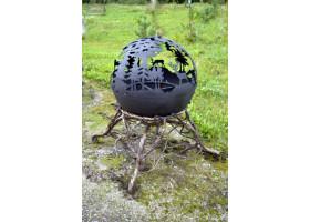 Кованый шар камин №2 Русский лес