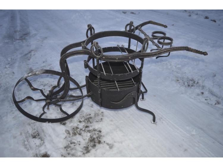 Кованая жаровня - Кованый мангал №2, Упряжка кованая
