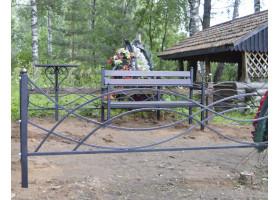 Кованая оградка №7