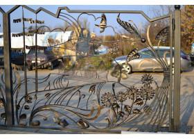 Кованые ворота-раздвижные Усадьба
