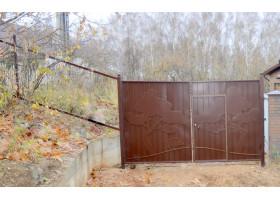 Кованые ворота №3 Лес (распашные)