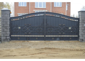 Кованые ворота №6 (раздвижные)
