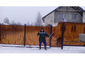 Кованый забор №9 Волнистый